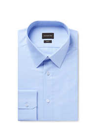 Ermenegildo Zegna Light Blue Slim Fit Cotton Shirt