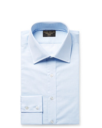 Emma Willis Light Blue Slim Fit Slub Cotton Shirt
