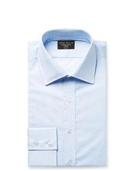Emma Willis Light Blue Slim Fit Slub Cotton Shirt
