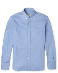 MAISON KITSUNÉ Maison Kitsun Slim Fit Cotton Oxford Shirt