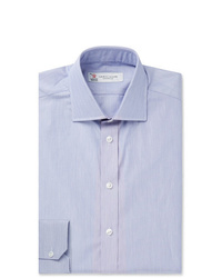 Turnbull & Asser Navy Slim Fit Striped Cotton Shirt