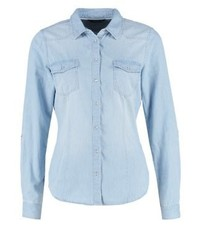 Only Onlalwaysrock Shirt Light Blue Denim