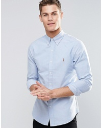 Polo Ralph Lauren Oxford Shirt In Slim Fit Blue