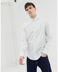 Original Penguin Oxford Shirt With Collar In Pastel Blue