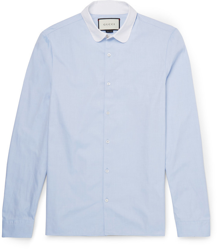 cfd0475f Gucci Penny Collar Cotton Oxford Shirt, £392 | MR PORTER | Lookastic UK
