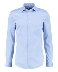 Steer slim fit shirt mid blue medium 3777536