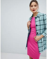 Helene Berman Checked Short Duster Jacket Check