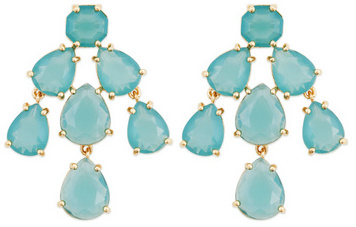 Kate Spade New York Accessories Aqua Kate Chandelier Earrings ...