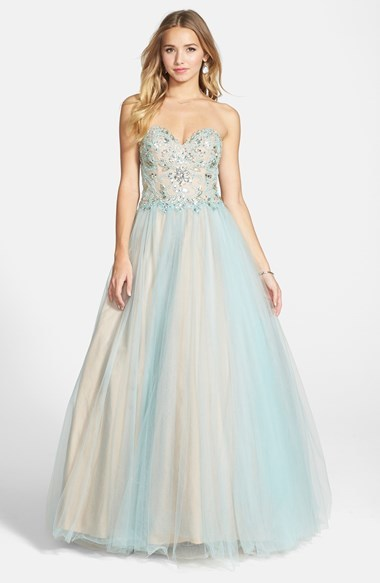the best attitude d6135 2b8ef £302, Terani Couture Embellished Tulle Strapless Ballgown