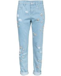 Light Blue Embellished Jeans