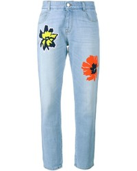Light Blue Embroidered Jeans