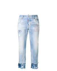 Dsquared2 Cool Girl Embroidered Cropped Jeans