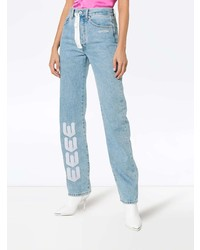 ffd4515a64aa ... Off-White Embroidered Arrow Straight Leg Jeans ...