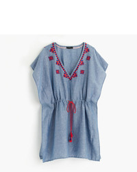 J.Crew Linen Embroidered Tunic