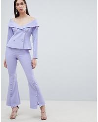 Lavish Alice Woven Bell Hem Tailored Trousers