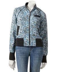 Light Blue Floral Bomber Jacket