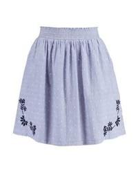 Esprit Pleated Skirt Light Blue