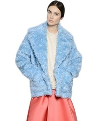 Light Blue Fur Coat