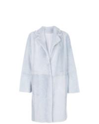 Yves Salomon Faux Fur Overcoat