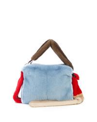 Light Blue Fur Crossbody Bag