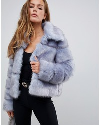 Missguided Premium Crop Pelted Faux Fur Jacket
