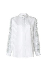 Marco De Vincenzo Gingham Ruffled Shirt