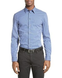 Trim fit gingham sport shirt medium 1247812