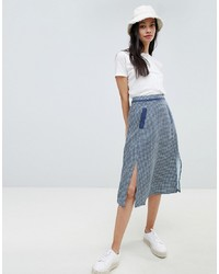 Ryder Jessie Gingham Maxi Volume Skirt