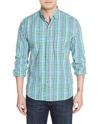 Regular fit gingham seersucker sport shirt medium 601461