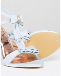 98036d9b68e ... Ted Baker Appolini Light Blue Bow Heeled Sandals ...
