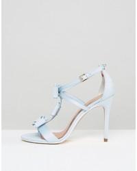 6ad363ec197 ... Ted Baker Appolini Light Blue Bow Heeled Sandals