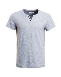 Basic t shirt blue melange medium 4157536