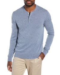Light Blue Henley Sweater