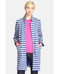 New york scuba stripe oversized sweater coat medium 76834