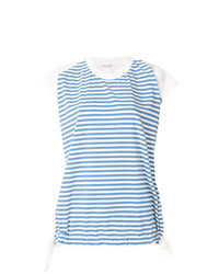 Moncler Striped Short Sleeve Top