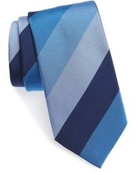 David Donahue Stripe Silk Cotton Tie