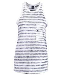 Ostali Stripe R Tanktop Vest Whitesartho Blue