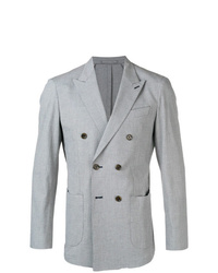Eleventy Houndstooth Double Breasted Blazer