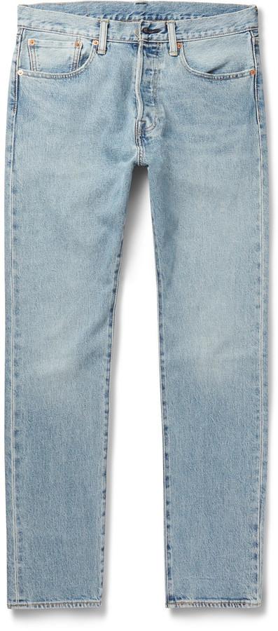 97f91a23 Levi's 501 Slim Fit Stretch Denim Jeans, £63 | MR PORTER | Lookastic UK