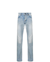 Saint Laurent High Rise Straight Jeans