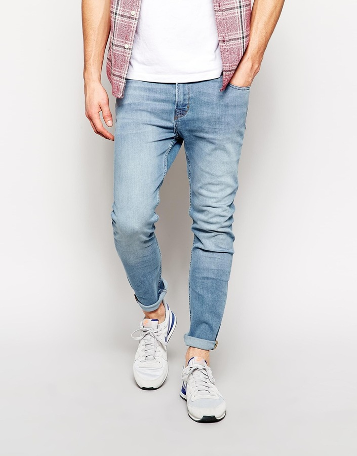 Etwas Neues genug Hoxton Denim Skinny Jeans In Light Blue Wash | Where to buy & how #HR_48