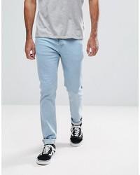 Hoxton Denim Skinny Fit Jeans In Light Bleach