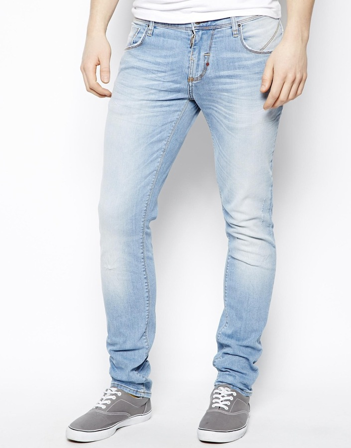 Fabelhaft Antony Morato Skinny Fit Jeans In Light Wash | Where to buy & how #VC_25