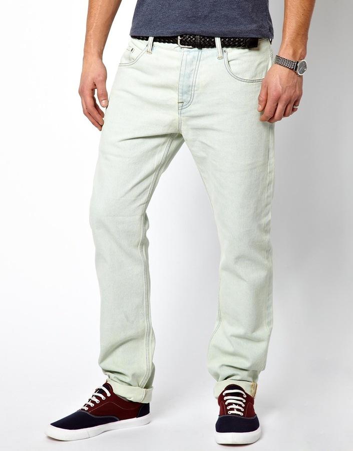 Slim light blue jeans
