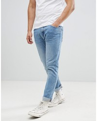 Bershka Slim Jeans In Light Wash
