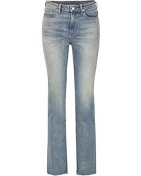 SIMON MILLE W009 Mid Rise Slim Leg Jeans