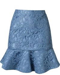 Martha Medeiros Ruffled Hem Marescot Lace Skirt