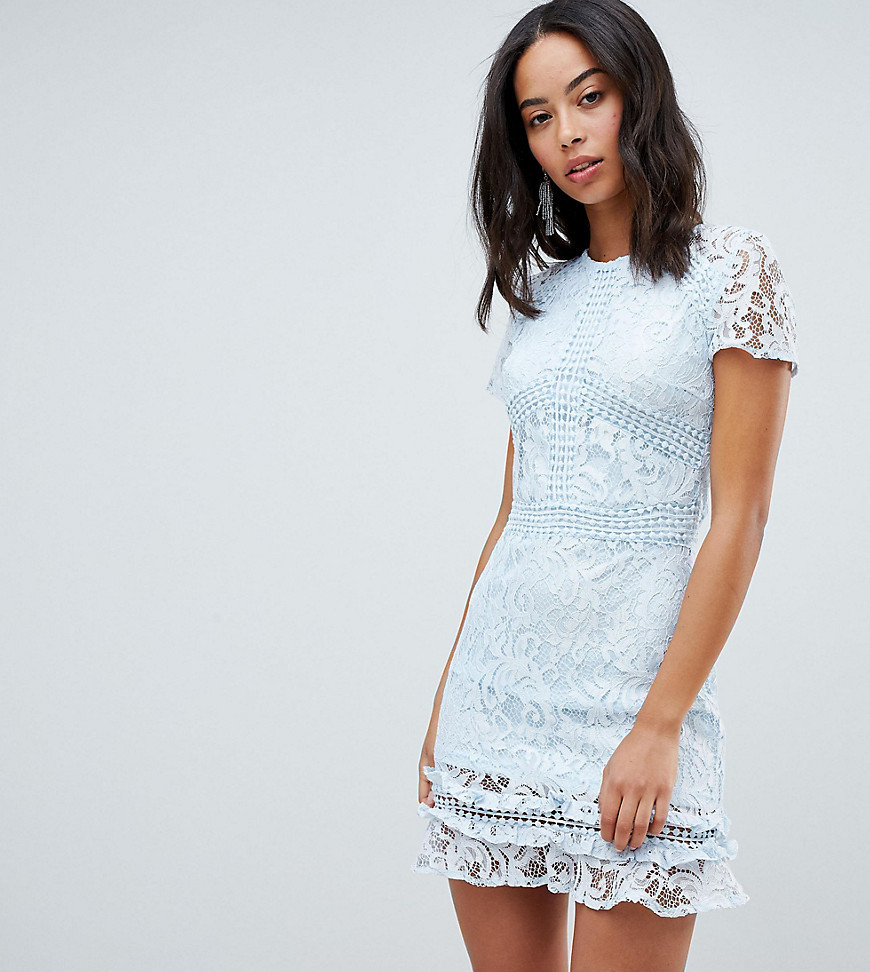 865262be960b ... Parisian Tall High Neck Short Sleeve Lace Skater Dress