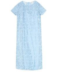 Nina Ricci Short Sleeved Macram Lace Dress