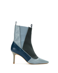 Sarah Chofakian Color Blocked Ankle Boots